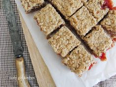 Update: After 7 years, this post has been updated with new photos, but the original recipe remains the same. Rhubarb Oatmeal Bars, Rhubarb Bars, Oatmeal With Fruit, Rhubarb Muffins, Brownie Recipes, Cookie Recipes, Dessert Recipes, Rhubarb Squares, Rhubarb Recipes