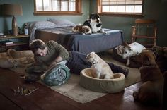 Will Graham with his dogs - Hannibal