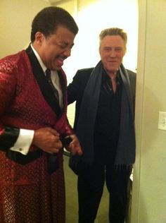 Neil DeGrasse Tyson And Christopher Walken Hung Out And The World Somehow Didn't Implode Unto Itself