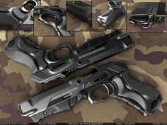 Concept weapons - These would look awesome Sci Fi Weapons, Concept Weapons, Fantasy Weapons, Weapons Guns, Guns And Ammo, Armas Airsoft, Mode Cyberpunk, Survival, Future Weapons