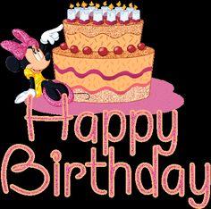Happy Birthday Minnie Glitter