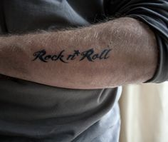 A tattoo after my own heart. Rock 'n Roll \m/