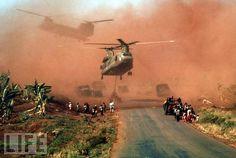 Wow, what a shot. Vietnam war era (November 1, 1955 – April 30, 1975). 1964 President Johnson launches all out war against Vietnam.