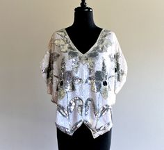80s Lillie Rubin Sequin Beaded Butterfly by LuvStonedVintage, $79.00