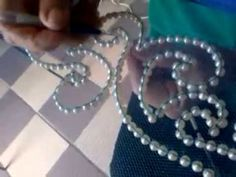 ‪How to make sequins beaded flower applique motif Handmade craft‬‏ - YouTube