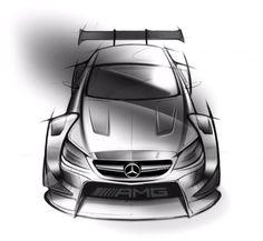 Mercedes-AMG C 63 DTM 2016 race car Design Sketch