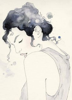 Really Beautiful Ink and Watercolor Illustration.