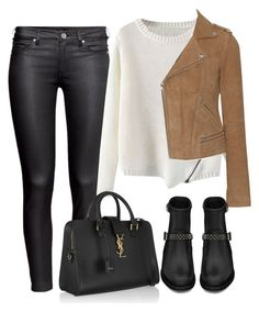 Untitled #1719 by osnapitssof on Polyvore featuring polyvore fashion style Maje H&M Yves Saint Laurent women's clothing women's fashion women female woman misses juniors