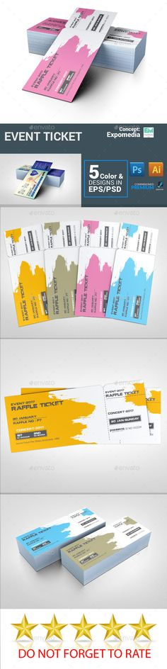 Raffle Ticket — Photoshop PSD #ticket template illustrator #ticket template ai • Download ➝ https://graphicriver.net/item/raffle-ticket/19242493?ref=pxcr