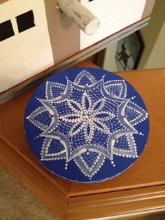 Scandinavian hand painted lace or by OlsenTrademarkCrafts on Etsy, $15.00