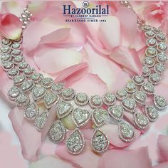 Make her feel special with this mesmerizing necklace in diamonds from the House of #HazoorilalBySandeepNarang #Diamonds #FineJewelry #FancyCuts #HazoorilalCelebrates #Hazoorilal