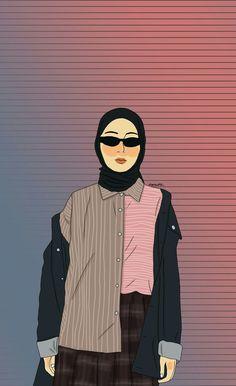 @inasrana 😎🎨 (loving the color💞) #illustration #fashionillustration #fashionhijab #girl Cute Little Drawings, Cute Drawings, Hijab Drawing, Surreal Artwork, Islamic Cartoon, Anime Muslim, Illustration Art Drawing, Illustrations, Hijab Cartoon
