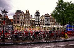 cool Rainy day in Amsterdam.