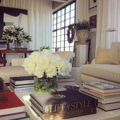 My stone urn on pedestal with Greenery ~William McClure's Birmingham Loft - Katie Considers Best Home Interior Design, Interior Design Inspiration, Home Decor Inspiration, Interior Styling, Morris, Modern Loft, Moving House, Elegant Homes, Apartment Design