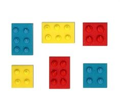 Sukkerpynt, Legoklosser, 6 stk. 2,5 cm store Ice Tray, Store, Tent, Shop Local, Shop, Storage