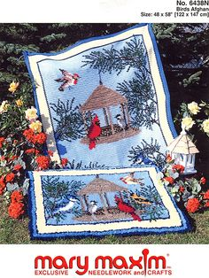 Birds afghan. Crochet this Graph-ghan with this wonderful pattern.