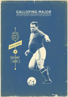 Cool retro looking posters for a soccer art exhibit.
