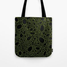 Organic - Lime Green Tote Bag by laec | Society6