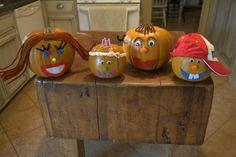decorate pumpkins using felt...I LOVE it!