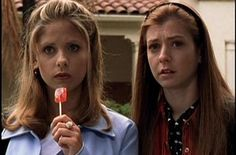 The I'm A Young Valley Girl Slayer With A Lollipop Outfits | 23 Of The Most Buffy Outfits Buffy Ever Wore