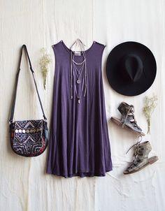 Purple boho style