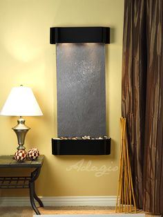 Indoor Wall Water Features - Cascade Springs Lightweight Slate Wall Water Feature