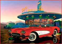Collector Car Artwork | fine art motorcycles and classic cars by Paul jennis | Flickr - Photo ...