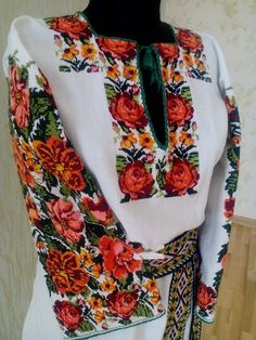 Ukraine, from Iryna Polish Embroidery, Embroidery Fashion, Folk Fashion, Womens Fashion, Lace Beadwork, Ethno Style, Ethnic Outfits, Embroidered Clothes, Folk Costume