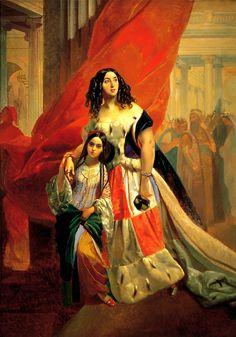 Портрет Юлии Самойловой с приемной дочерью, 1842 г.