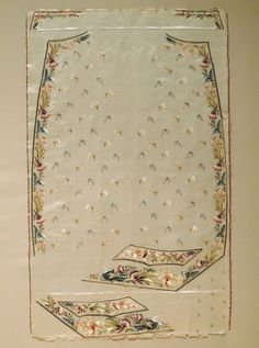 Uncut 18th century man's waistcoat panel (Collection of the Kent State University Museum, 1983.1.1302)