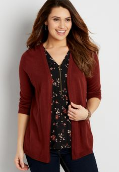 the classic cardigan with pointelle stitched back (original price, $32.00) available at #Maurices