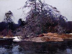 catonhottinroof:  Stepan Kolesnikov (Russian, 1879-1955), The Last Snow
