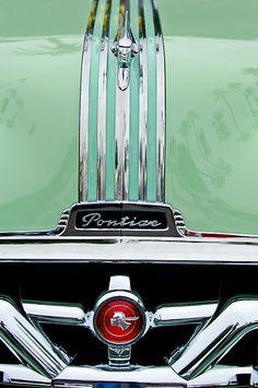 1951 Pontiac Streamliner Grille by Jill Reger Hood Ornament