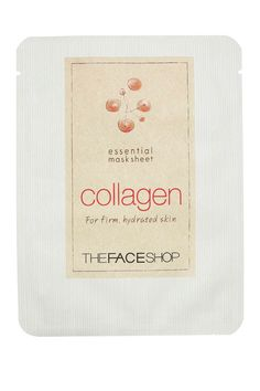 """""""For instant hydration and a beautiful glow,"""" Blunder always keeps The Face Shop Essential Collagen Mask Sheets in her kit."""