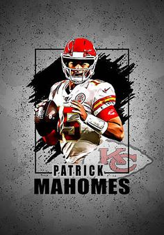 Patrick Mahomes, QB, Kansas City Chiefs Art Print by Afrio Adistira. All prints are professionally printed, packaged, and shipped within 3 - 4 business days. Kansas City Chiefs Football, Football Art, Pittsburgh Steelers, Dallas Cowboys, Football Images, Football Design, Football Pictures, Sports Pictures, Chiefs Wallpaper