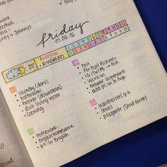 El código de colores es una de las mejores maneras de organizar aún más su diario bala y tener una visión clara de las diferentes categorías / temas que se crean en ella.  Ver cómo y dónde utilizar su sistema de codificación por colores en su diario bala.  - www.christina77star.co.uk
