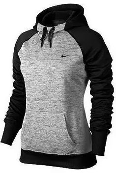 Women Attire and Hairstyles: Black and grey nike hoodie for ladies Make sure to check out my fitness tips and sexy women's athletic clothing at https://ronitaylorfit.com/