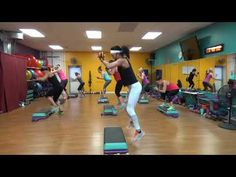 HIIT Step/bicep weight circuits - YouTube