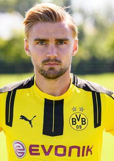 Marcel Schmelzer poses during the team presentation of Borussia Dortmund on August 17 2016 in Dortmund Germany