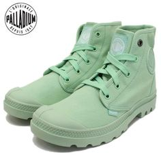 Palladium Canvas Boots In Mint