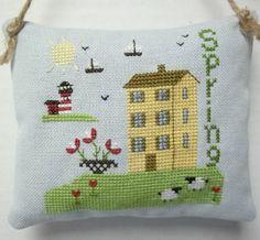 Nautical Folk Style Spring Cross Stitch Mini by luvinstitchin4u, $16.99