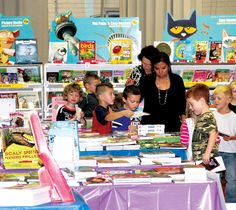 Kindergarten students took a turn through the book fair conducted at Tekamah-Herman last week. The fair, put on in the high school auditorium, offfered a wide variety of books for students of all ages.