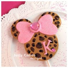 Leopard Minnie Mouse cake topper for girl\u0027s birthday ~handcrafted from polymer clay~ & Minnie Mouse Birthday Leopard Party Cake Plate by FantasiaForever ...