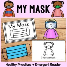 Your students will learn about the importance of wearing a mask and how to use their mask at school in this emergent reader. This emergent reader includes familiar sight words and has predictable text. There are both color and black & white copies! Covid-19 can be very scary for our children, th... Beginning Of The School Year, First Day Of School, Pre School, Preschool Special Education, Kindergarten Classroom, Classroom Crafts, Classroom Resources, Emergent Readers, Social Stories