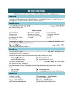 Medical Assistant Resume Cover Letter  Medical Assistant Resume