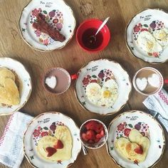 ♥ Anthropologie Francophile Plates for Valentine's Day breakfast :)