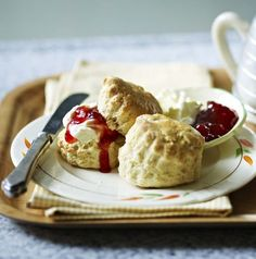Mary Berry's easy scones - serve with clotted cream and jam.  (I miss scones.)