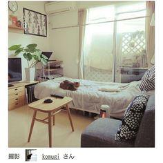 ワンルーム 狭い/14㎡/一人暮らし/賃貸/RoomClip mag/Overview…などのインテリア実例 - 2016-07-14 15:57:48 | RoomClip(ルームクリップ)