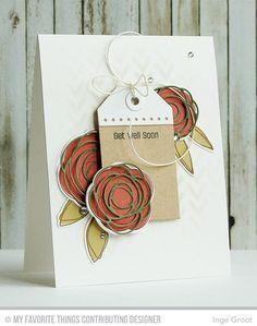 Scribble Roses stamp set and Die-namics, Scribble Roses Overlay Die-namics, Tag Builder Blueprints 2 Die-namics - Inge Groot #mftstamps