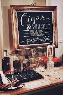design a cigar + whiskey bar for your man's bachelor party! Gatsby Party, Gatsby Wedding, Wedding Day, Cigar Bar Wedding, Speakeasy Wedding, Roaring 20s Party, Wedding Snack Bar, Autumn Wedding, Wedding Anniversary